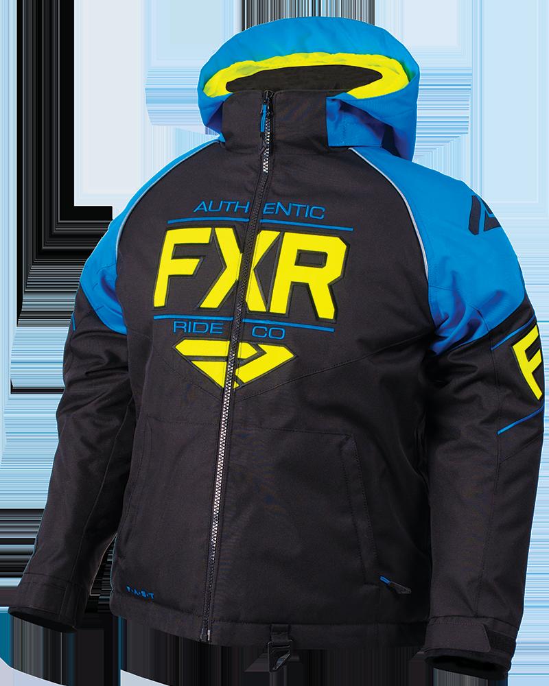 FXR Clutch jakke svart blå hi vis – Tana Bilglass AS